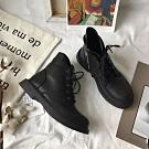 KEITH-WILL時尚鞋館 韓國設計心機修腿娃娃圓頭鞋-黑色