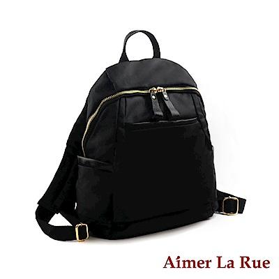 Aimer La Rue後背包 真皮尼龍歐洲山城系列(三色)