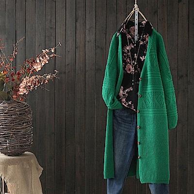 中長版條紋毛衣外套針織開衫/設計所在/Y3678