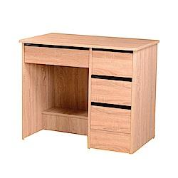 綠活居 皮莎時尚3尺木紋書桌/電腦桌(二色可選)-90x54x75cm-免組
