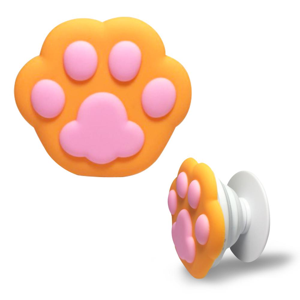 貓奴必備可愛貓掌手機伸縮支架/四色可選