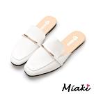 Miaki-穆勒鞋百搭小資平底包鞋-白