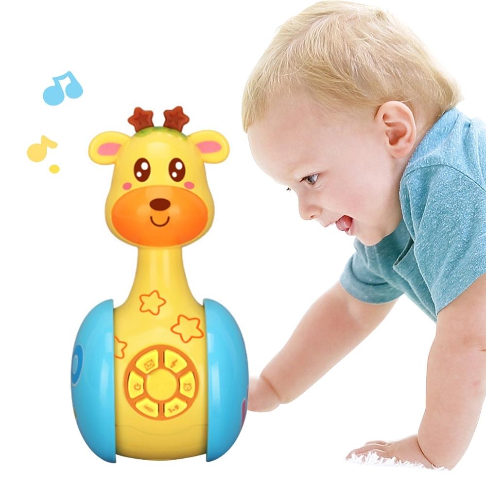 colorland早教學習玩具 聲光不倒翁滑行玩具