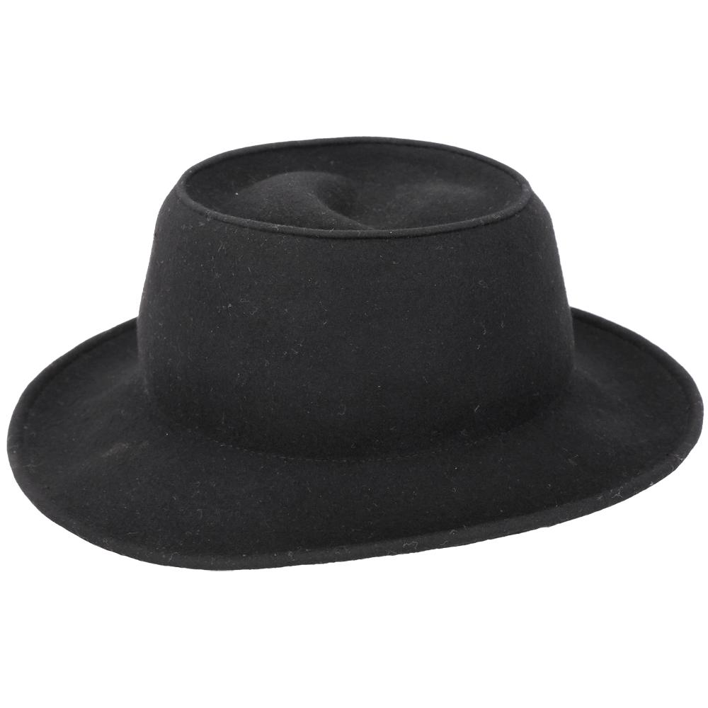 MILSA SECOND 純色黑羊毛紳士帽