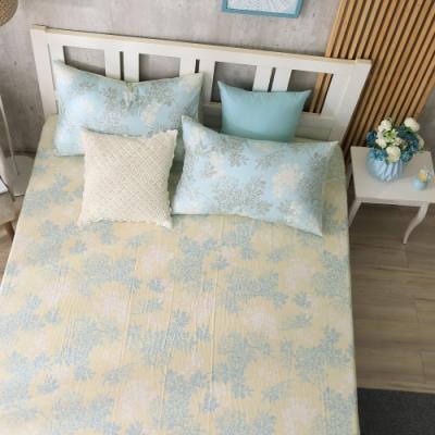 鴻宇 100%精梳棉 昆蒂娜 藍 雙人特大床包枕套三件組