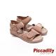 Piccadilly 寬帶可調整素面彈性休閒 坡跟涼鞋 卡其(另有黑 粉桔 ) product thumbnail 1
