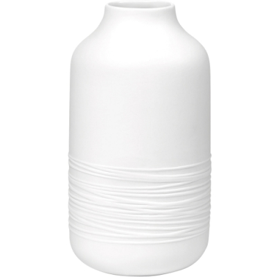 《RADER》弧紋白瓷花器