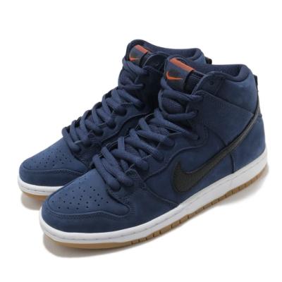 Nike 滑板鞋 SB Dunk High PRO 男鞋 經典款 皮革 質感 球鞋 穿搭 藍 黑 CI2692401