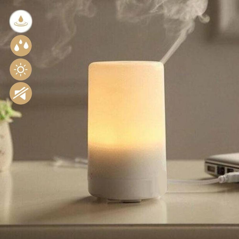 E.dot 日式小夜燈精油水氧薰香加濕機