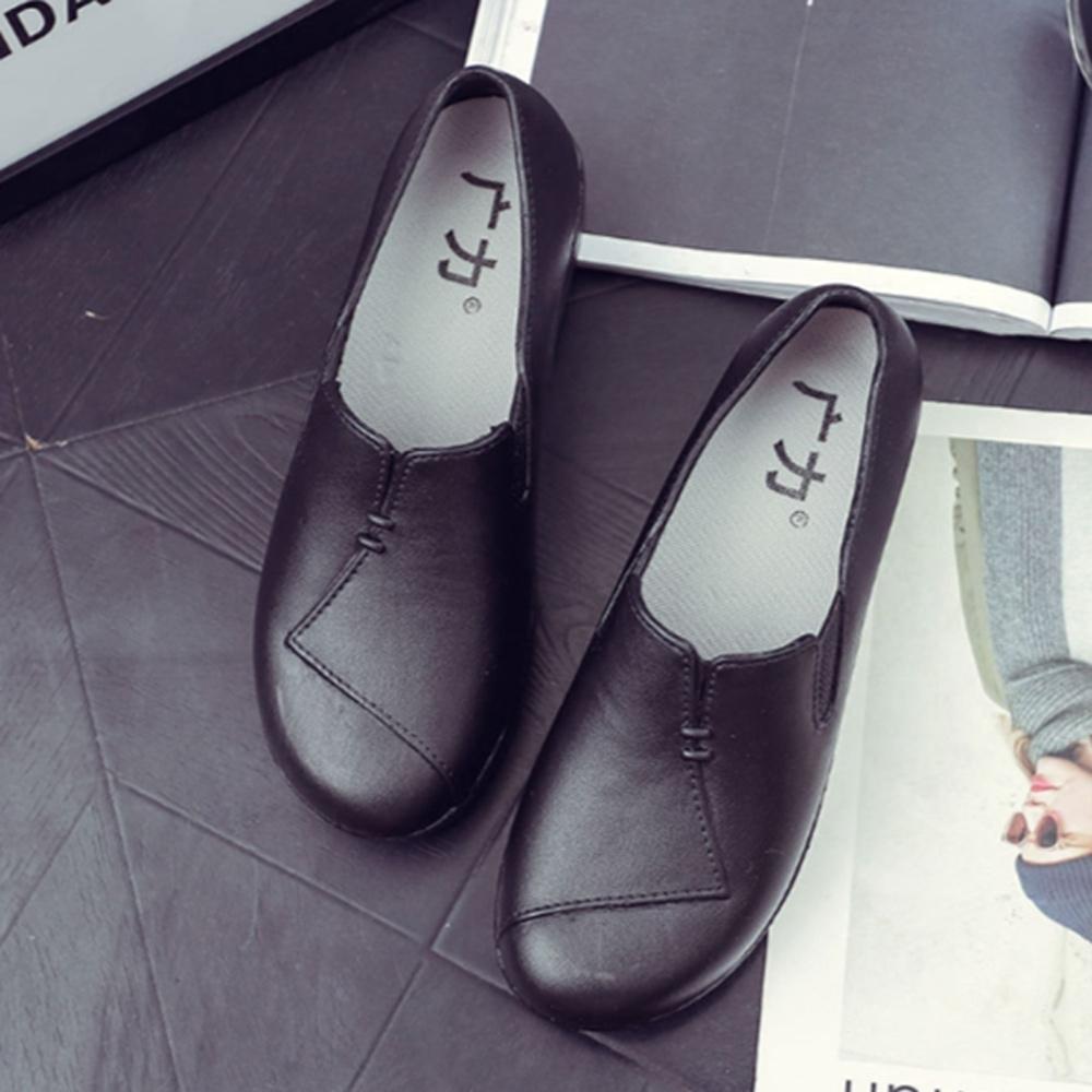 韓國KW美鞋館-波希米亞素色防水輕量平底雨鞋 黑