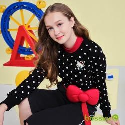 bossini女裝-Hello Kitty圖案厚棉T恤黑