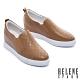 休閒鞋 HELENE SPARK 知性簡約格紋全真皮內增高厚底休閒鞋-駝 product thumbnail 1