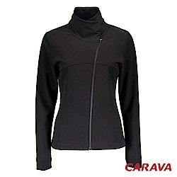 CARAVA女高領軟殼外套(黑)