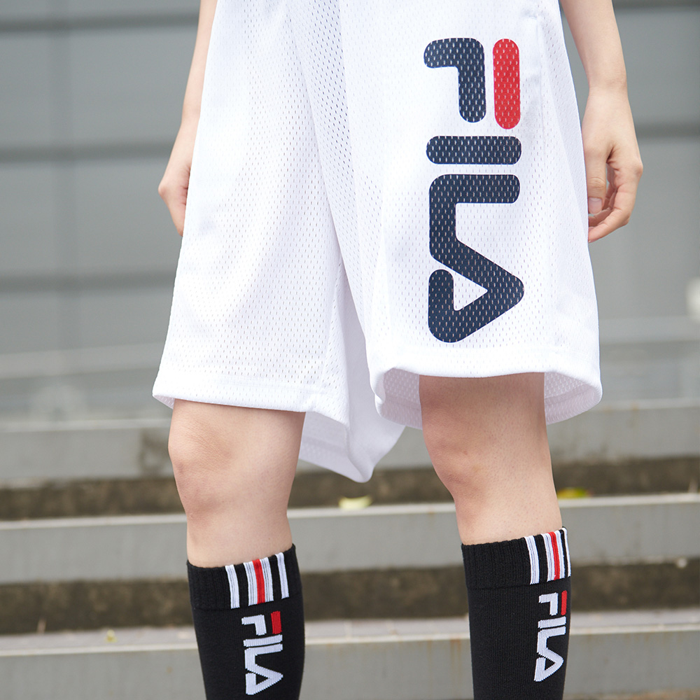 FILA #架勢新潮 針織短褲-白色 1SHV-1413-WT