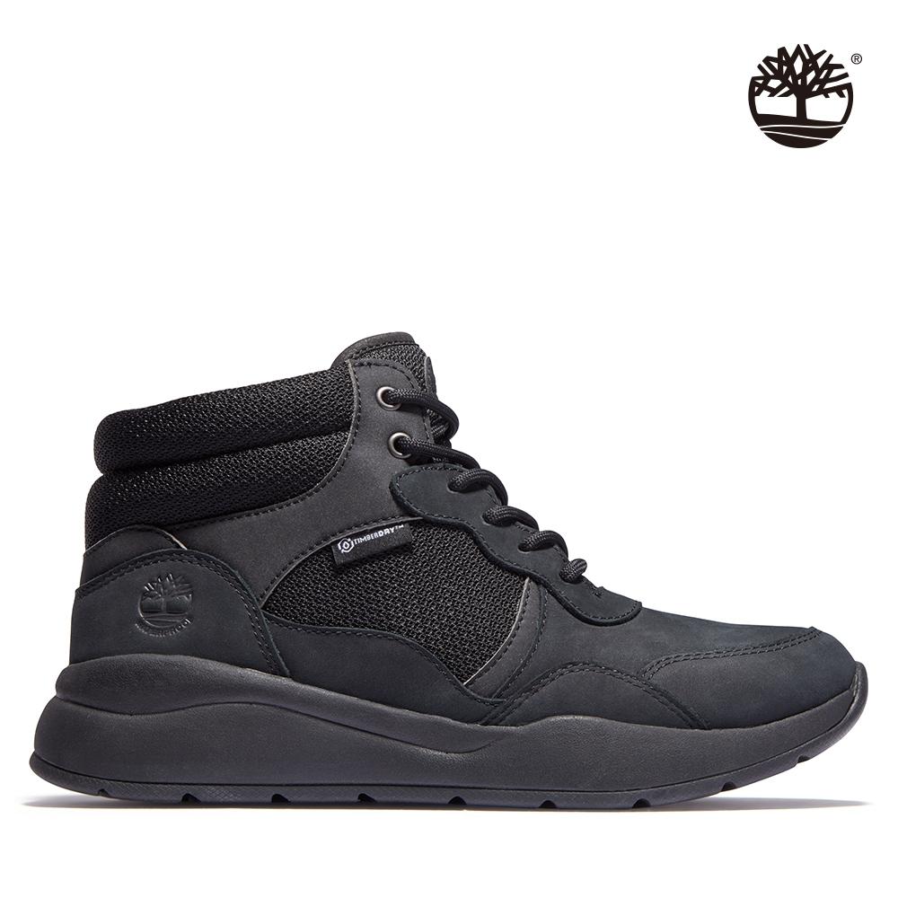Timberland 女款黑色Boroughs磨砂革中筒防水健行靴 A2HDT001