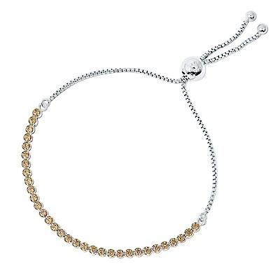 Pandora 潘朵拉 閃耀金色鑲鋯 可調整純銀手鍊手環