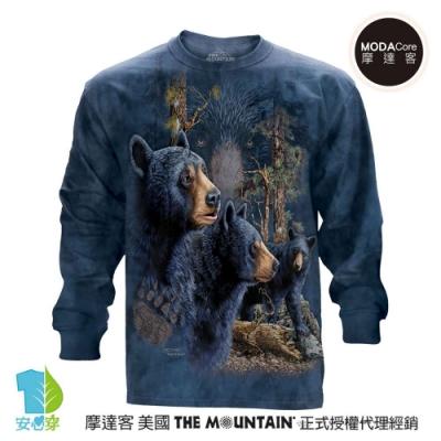 摩達客 美國進口The Mountain 尋十三熊群 純棉長袖T恤