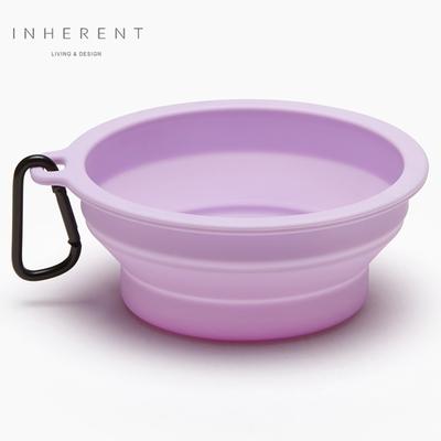 韓國Inherent 馬卡龍折疊輕便碗 寵物碗 狗碗 薰衣草紫