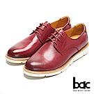 【bac】都會新秀 - 擦色感沖孔中性風格綁帶深口平底鞋
