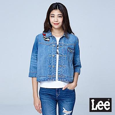 Lee 七分刺繡牛仔外套/101+