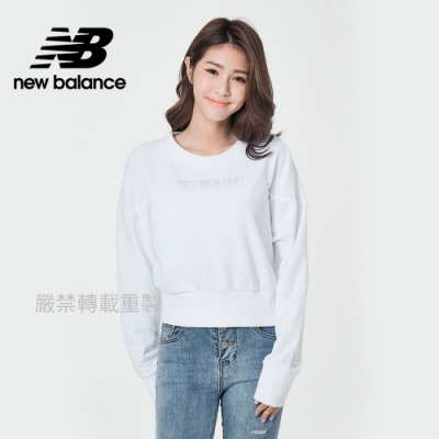 [New Balance]圓領短版長袖_女款_白色_AWT11503WT