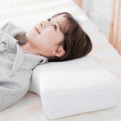 米夢家居-加厚12cm側睡護肩仰睡止鼾-工學記憶中高枕(二入)