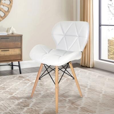 E-home Jael耶爾蝴蝶餐椅 白色