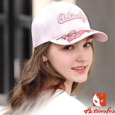 挪威 ACTIONFOX 新款 時尚休閒棉質棒球帽_粉紅