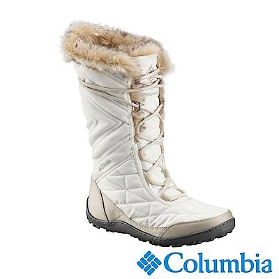 Columbia哥倫比亞 女款-Omni-Tech 防水鋁點保暖雪靴-白色