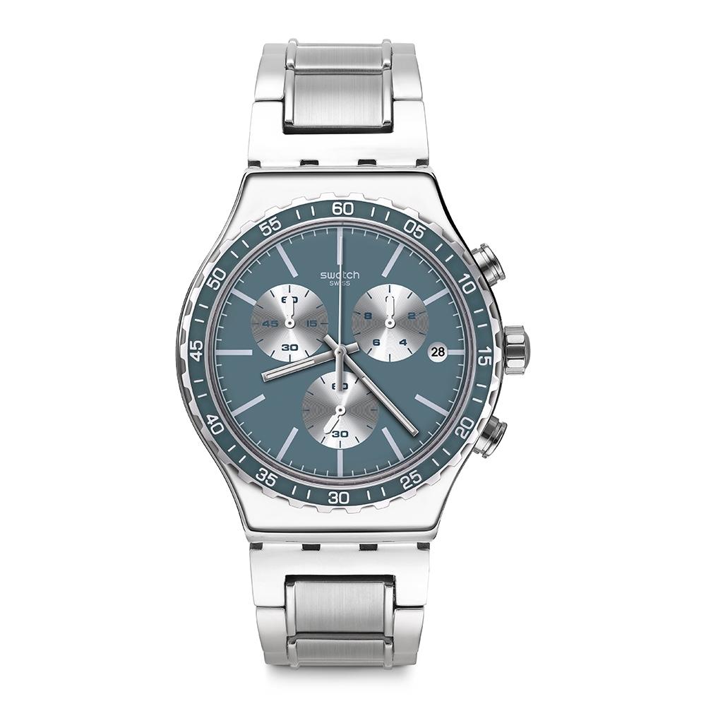 Swatch Irony 金屬Chrono系列手錶 IRONFREEZE 淬鍊 -43mm