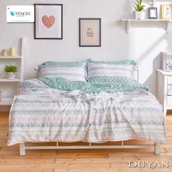 DUYAN竹漾-100%頂級萊塞爾天絲-雙人加大兩用被床包四件組-森嶼微央