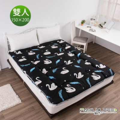 【FL生活+】日式加厚8cm雙人床墊(150*200cm)-銀白天鵝(FL-109-Y)