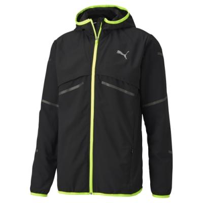 PUMA-男性慢跑系列Runner ID連帽風衣外套-黑色-歐規