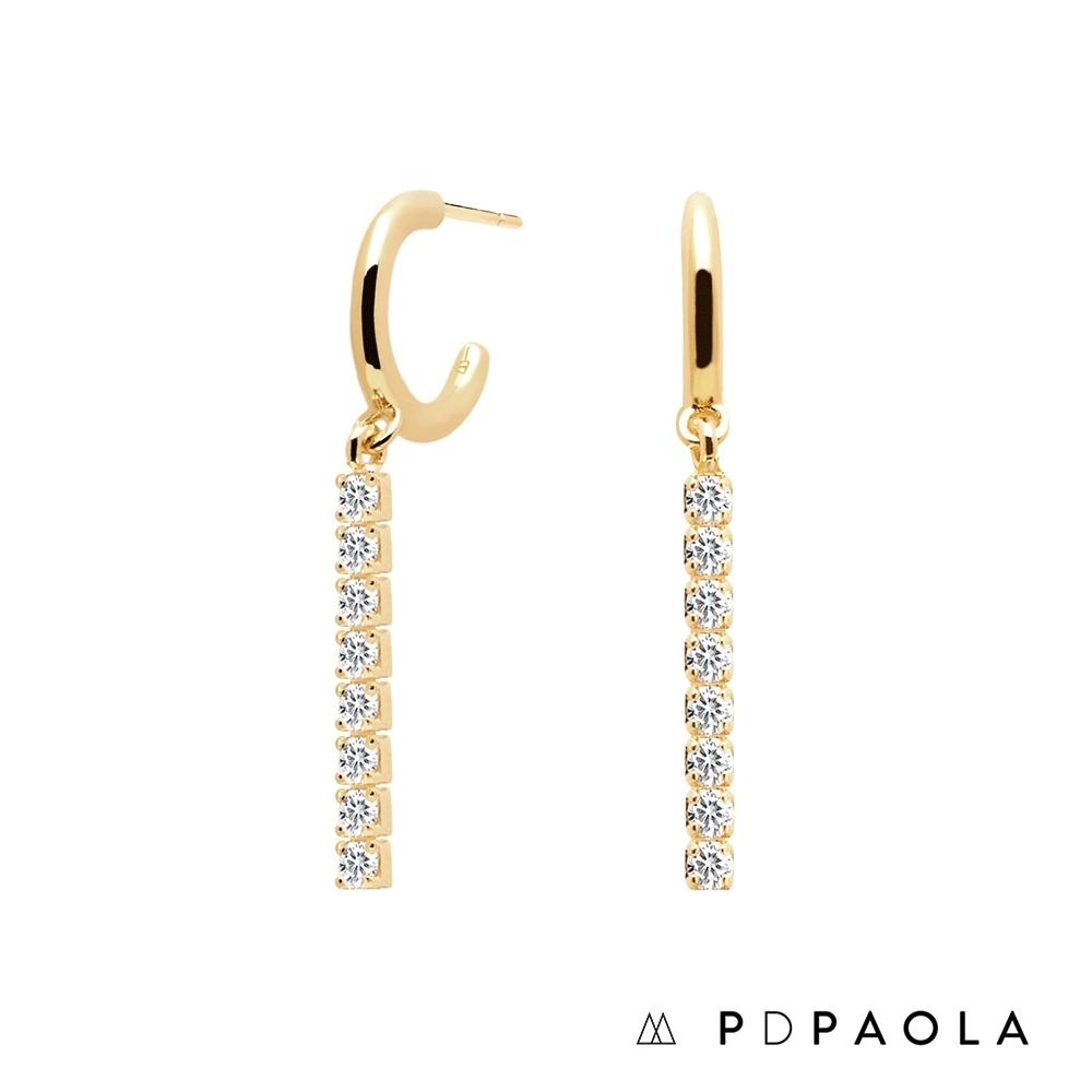 PD PAOLA 西班牙輕奢時尚品牌 流蘇排鑽鍍18K金耳環