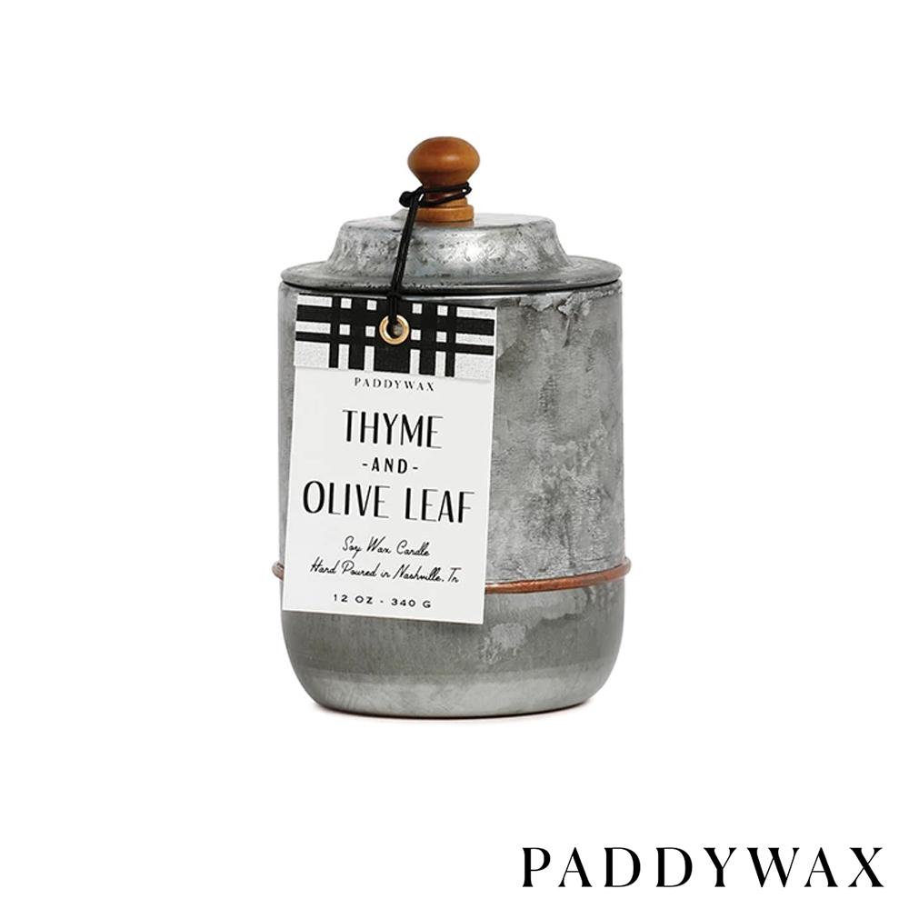 PADDYWAX 美國香氛 Homestead系列 百里香橄欖 復古工業風錫罐 340g