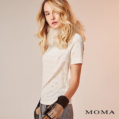 限時商品 | MOMA 珍珠絨布短袖上衣_2色