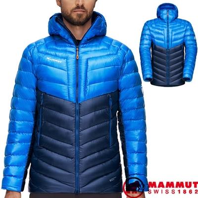 長毛象 男新款 Broad Peak IN 輕量保暖防風防潑連帽羽絨外套.夾克_海洋藍/冰藍