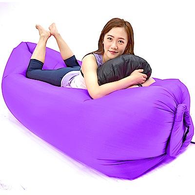 懶人沙發椅(快速充氣懶骨頭躺椅)