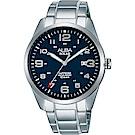 ALBA 雅柏 城市情人太陽能時尚手錶(AX3003X1)-藍x銀/39mm