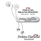 PERKINS 伯金仕 - 日本Akoya 18K金 7.5mm 珍珠垂吊耳環