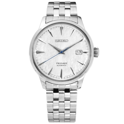 SEIKO 精工 PRESAGE Cocktail 限量 不鏽鋼 機械錶-銀色/40mm