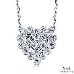 點睛品 Lady Heart 22分 愛心環繞18K金鑽石項鍊