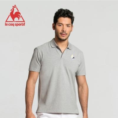 法國公雞牌短袖POLO衫 LWJ2314395-男-麻灰