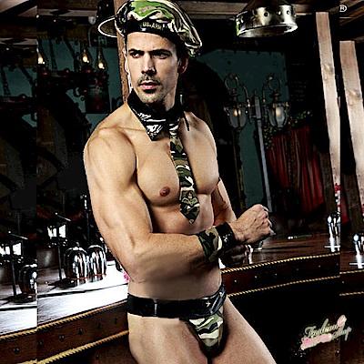 猛男角色扮演夜店迷彩裝 男生軍裝派對服表演服 流行E線