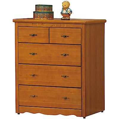 綠活居 勞森時尚3.4尺實木五斗櫃/收納櫃-101x52x122.5cm免組