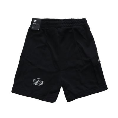 Nike 短褲 Running Shorts 運動休閒 女款 路跑 膝上 棉質 口袋 腰部抽繩 黑 銀 DA3488-010