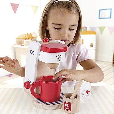 德國Hape愛傑卡-咖啡製作機-紅白限量版