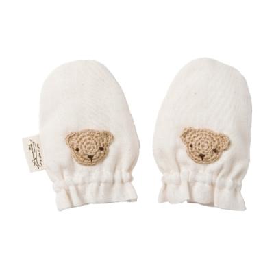 【Amorosa Mamma】有機棉新生兒手套-小熊