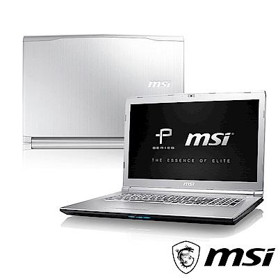 MSI微星 PE72-088 17吋筆電(i7-8750H/8G/GTX1050Ti)