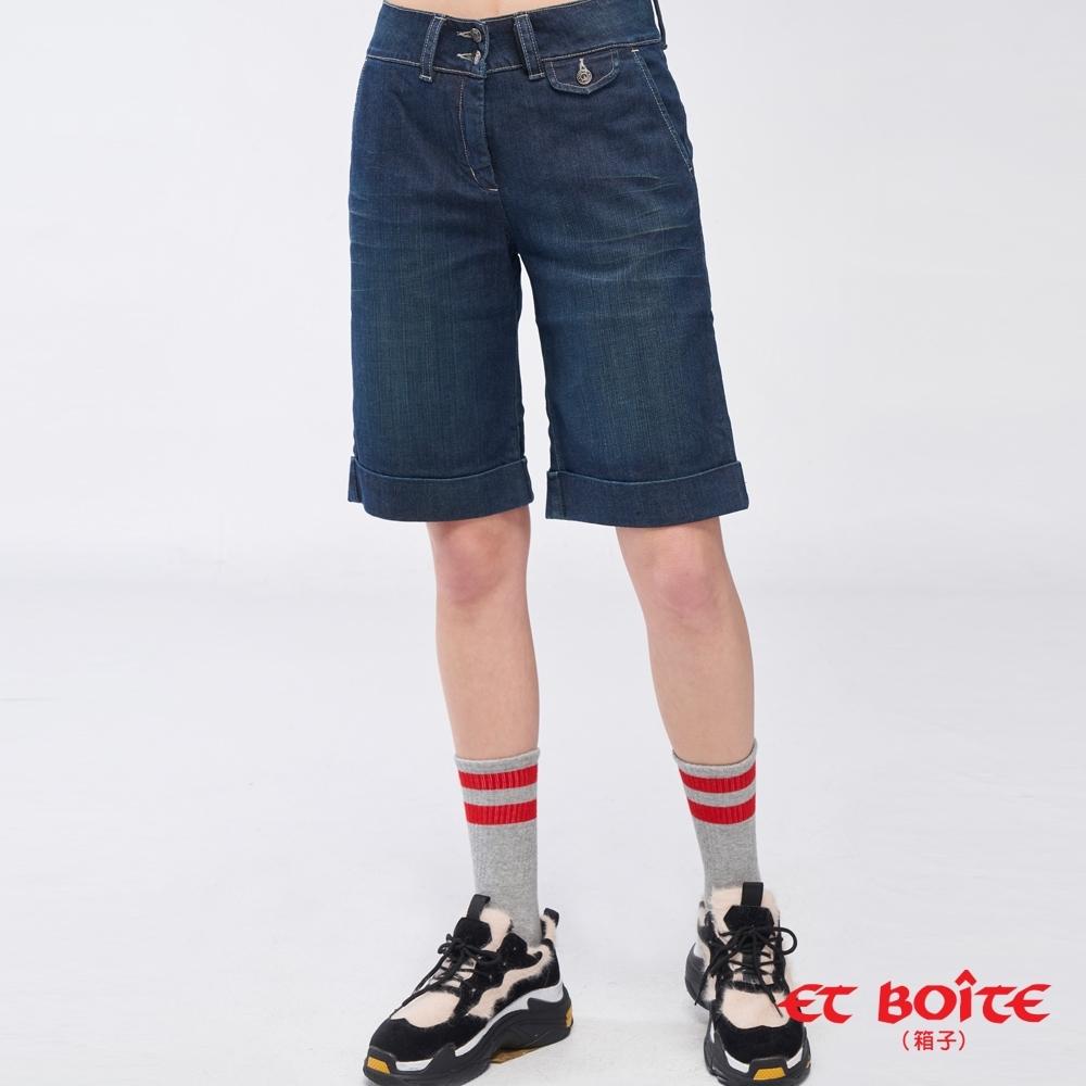 ET BOiTE 箱子 –五分寬版丹寧短褲